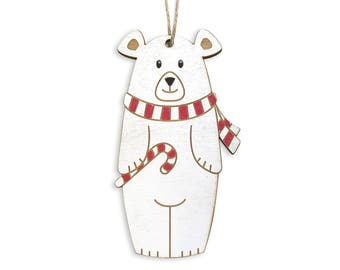 Polar Bear Christmas Ornament