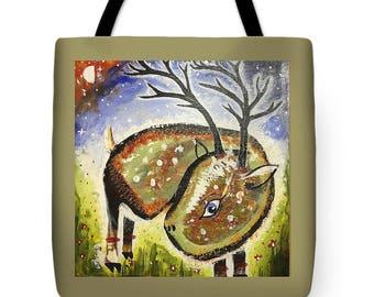 Dante the Deer Tote Bag
