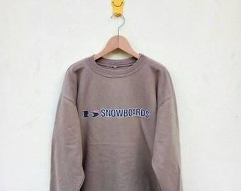 On Sale 20% Off Vintage 1996 B Snowboards Sweatshirt/B Snowboard Brand/Skate Clothing/Powell