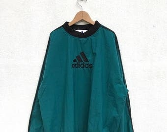 20% OFF Vintage Adidas Pullover Windbreaker Jacket,Adidas Colorblock Big Logo,Adidas Sport 90s,Adidas Track Top,Adidas Warm Up Pullover