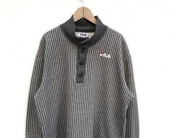 20% OFF Vintage Fila Biella Italia Pullover / Fila Sweater / Casual Clothing / Fila Sport / Fila Sportwear