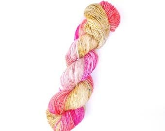 Valentine's Day Yarn.  Sparkle Singles Yarn.  Merino Singles Yarn.  Incandescently Happy.