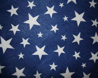 Sheet felt white stars on blue background