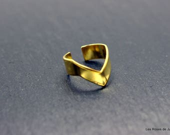 Inca ring size adjustable gold