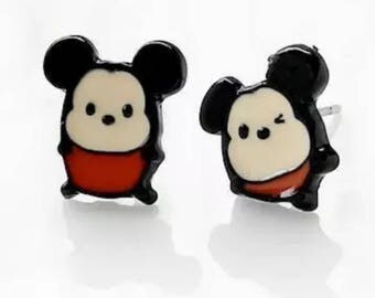 Minnie And Mickey Mouse Tsum Tsum Stud Earrings