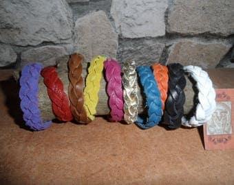 Braided leather bracelet, handmade