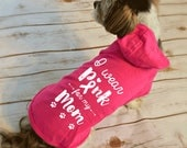 I Wear Pink for my Mom Breast Cancer Dog Hoodie T-Shirts. Breast Cancer Month Shirt.