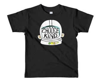Kids - Choose Kind Helmet Shirt Short sleeve kids t-shirt Toddler Shirt Kid tshirt Boys Girls Shirt Toddler
