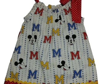 Mickey Mouse Girls Pillow case dress toddler pillow case dress Mickey  girl dress Mickey girl birthday dress toddle dress baby dress