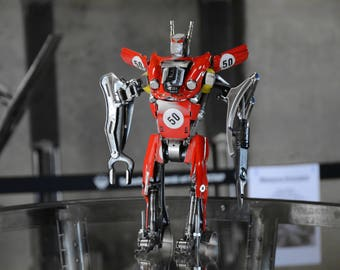 Ferrari dino 246 gt Autobot Metal art scultura Robot