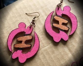 Wooden Afrocentric Earrings