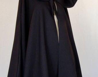 Brown Colour Cloak Full Circle Cloak~Long Cloak Capes Brown Wool Blend Cloak~Jedi Robes~Hooded Cloak~Medieval Cloak Custom make@sohoskirts