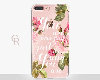 Inspirational Clear Phone Case For iPhone 8 iPhone 8 Plus iPhone X Phone 7 Plus iPhone 6 iPhone 6S  iPhone SE Samsung S8 iPhone 5