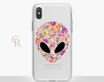 Alien UFO Clear Phone Case - Clear Case - For iPhone 8 - iPhone X - iPhone 7 Plus - iPhone 6 - iPhone 6S - iPhone SE Transparent Samsung S8