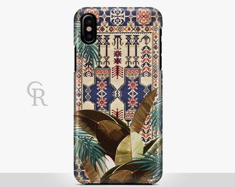 Tribal Leaves iPhone 8 Case For iPhone 8 iPhone 8 Plus - iPhone X - iPhone 7 Plus - iPhone 6 - iPhone 6S - iPhone SE - Samsung S8 - iPhone 5