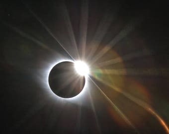 Total Solar Eclipse 2017, Astrophotography, Diamond Ring Effect, Solar Eclipse Photo, Eclipse Photography, Total Eclipse, Eclipse Canvas