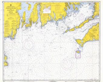 Martha's Vineyard to Block Island Map 1969