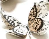Paper butterflies, living room decor, beige wall decor, sweet home, nursery decor, dorm decor, engagement party decorations, butterfly art