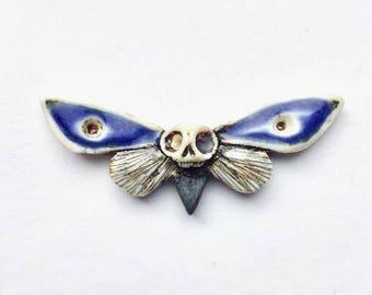 Evil Eye Deaths Head Moth Pendant