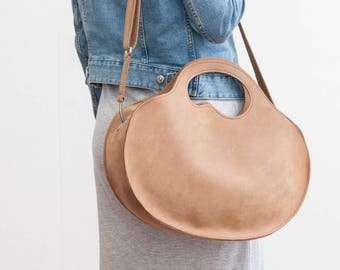 Elegant leather bag from Haeute, made in Germany, cow hide