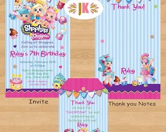 Shopkins Shoppies Printed Invitations