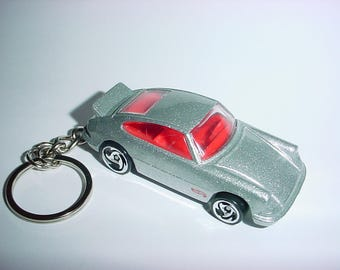3D Porsche Carrera custom keychain keyring key chain by Brian Thornton finished in silver racing trim