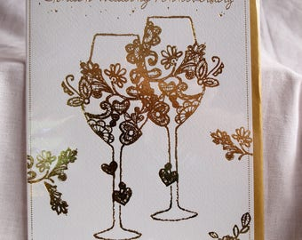 To Wonderful Parents on your Golden Wedding Anniversary Card