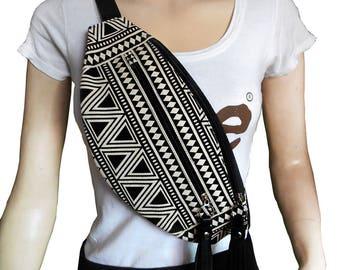 Fanny pack black triangle/Hip Bags/belt bag/bum bag/bags/fanny pack festival/festival bag/festival fanny pack/waist bag/BUY 3 GET 1 FREE