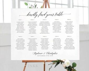 Printable Seating Chart Poster - Wedding Seat Chart PDF Download - Wedding Seating Chart Printable - Ready to Print PDF - (Item code: P476)
