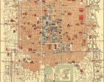 Poster, Many Sizes Available; Map Of Beijing China 1900