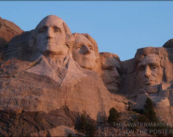 Poster, Many Sizes Available; Sunrise At Mount Rushmore