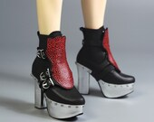 WGrass custom lot: Gothic kinky male high heeled boots with leopard cover for LLT body - rest of the payment