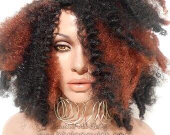 Full cap TWIST OUT wig FULLCAP 038-039 wig natural hair full cap wig rihanna wig Nicki Minaj wig Taylor Swift wig drag queen wig
