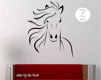 Delightful Horse Wall Decal Vinyl Sticker Art Decor Bedroom Design Mural Interior  Design Animals Part 20