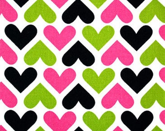 Hearts Shower Curtain / Custom Boutique Shower Curtain / Extra wide & extra long also!