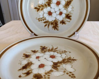 Vintage mountain wood collections stoneware dried flowers oven to table Japan