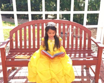 Princess belle dress, Beauty and the beast, princess Belle, Belle party , Beauty and the Beast birthday, Belle costume