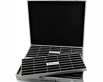 Jack Richeson Roz Box W/4 Removable Pastel Trays , aluminum box, pastel storage, soft pastel trays, pastel box