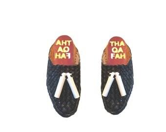 Men sandals,Leather sandals,Handmade sandals for men,gift for husband (navy Blue)
