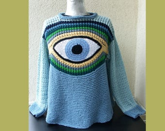 Sweater with eye - postage free delivery