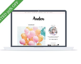 50% OFF - Auden Wordpress Blog  & Shop Theme - Lifestyle and Fashion Blog - WooCommerce - Premade Blog Template - Instant Download
