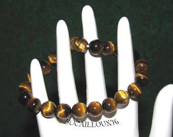 BRACELET 17 - beads 8mm Tiger eye beads