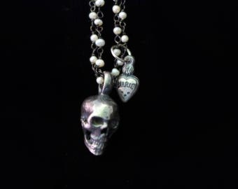 Sterling Skeleton Pendant Necklace