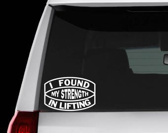 Weightlifting Powerlifting Bodybuilding Decal auto, laptop, bottle