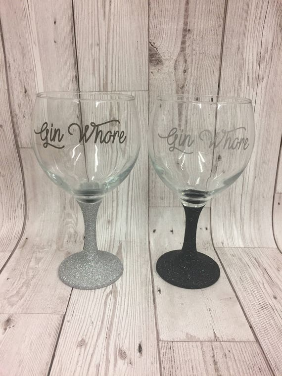 Etsy Personalised Gin Glass