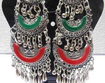 ethnic indian oxidized afghan bellydance banjara earring gypsy boho