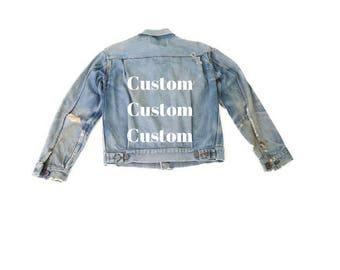 Custom Denim Jacket Listing