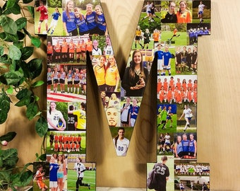 Home Decor, Letter Photo Collage, Custom Photo Collage, Photo Collage Letter, Gifts for Mom, Wedding Gifts