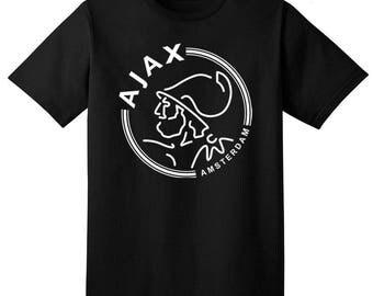 AFC Ajax Amsterdam T Shirt Soccer Football Club UEFA Johan Cruyff
