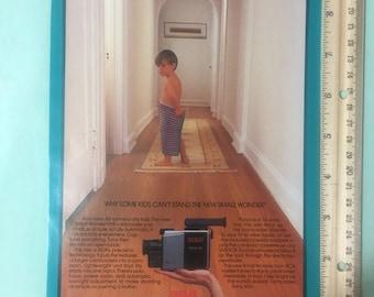 1987 RCA VHS Camcorder and Pontiac 6000 magazine ad